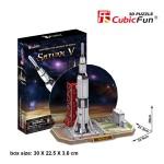 Puzzle 3D 68 pièces : Saturne V Rocket
