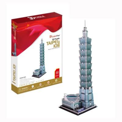 Puzzle 3D 68 pièces : Tour Taipei 101, Taïwan - Cubic-77766