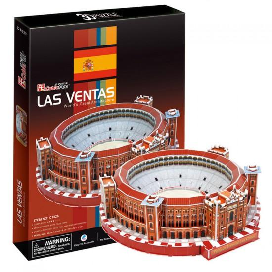 Puzzle 3D 71 pièces : Plaza de Toros Las Ventas - Cubic-71507