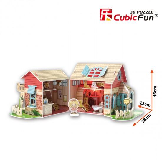 Puzzle 3D 84 pièces : Sweet Villa - Cubic-79317