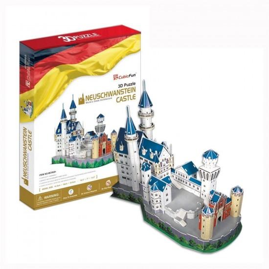 Puzzle 3D 98 pièces : Château de Neuschwanstein, Allemagne - Cubic-77760