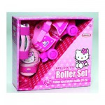 Boite avec patins + protections Pointure 24/29 : Hello Kitty