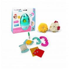 Kit créatif Fundoo Twist :  Maman poule et son poussin pompons