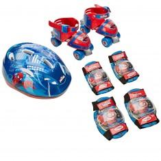 Sac avec Rollers évolutif + set 2 protections Pointure 24/29 : Spiderman