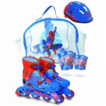 Sac Rollers T.1 + 2 protections + casque Pointure 30/33 : Spiderman