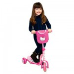 Trottinette 3 roues avec sac  Hello Kitty