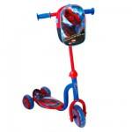 Trottinette 3 roues avec sac Spiderman