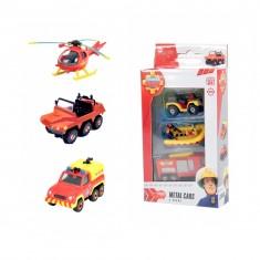 Set de 3 véhicules de secours Sam le pompier : Hélicoptère, camionnette et pick-up