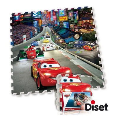 dalle en mousse tapis cars jeux et jouets diset. Black Bedroom Furniture Sets. Home Design Ideas