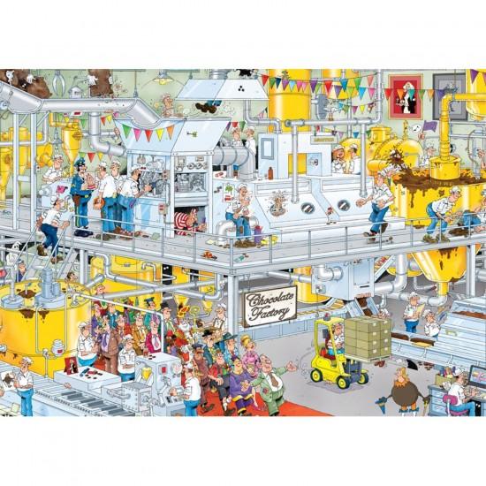 Puzzle 1000 pièces : Jan Van Haasteren : La chocolaterie - Jumbo-617452