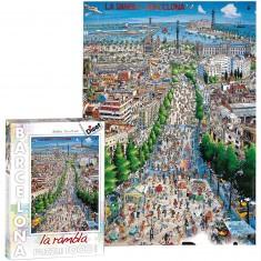 Puzzle 1000 pièces : La Rambla Barcelona