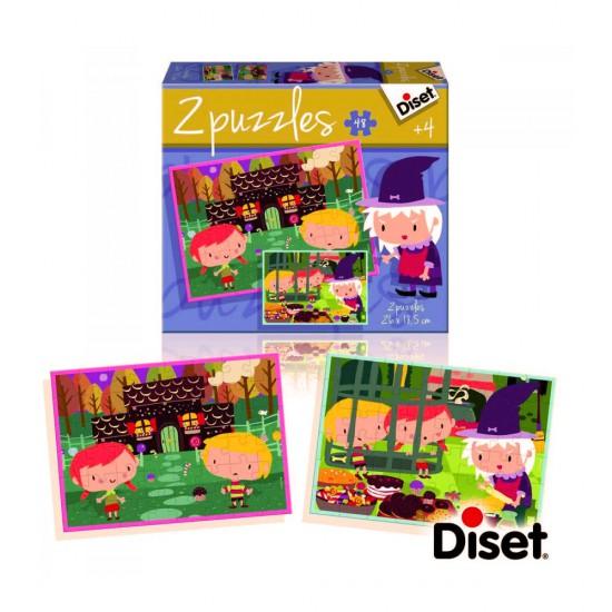 Puzzle 2 x 48 pièces : Puzzles contes : Hansel et Gretel - Diset-69963