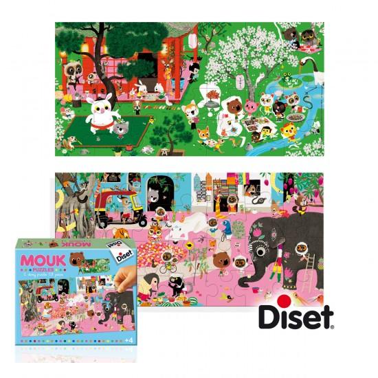 Puzzle 28 pièces : 2 puzzles histoires Mouk - Diset-Jeux-41024
