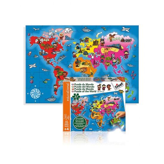 Puzzle 37 pièces : Puzzle du monde - Diset-63458