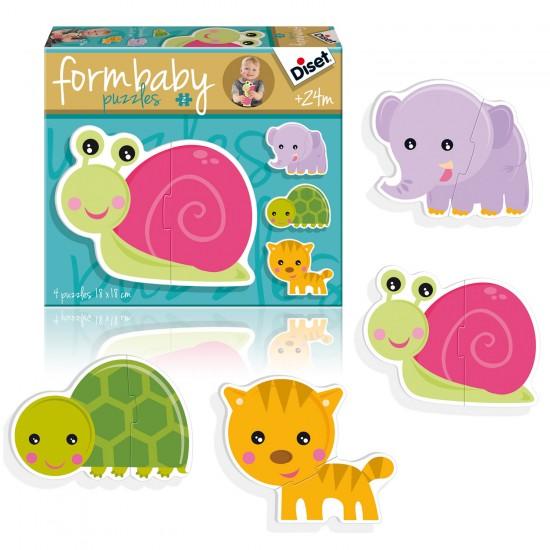 Puzzle 4 x 2 pièces : Form Baby Animaux - Diset-Jeux-69951