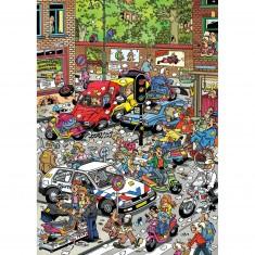Puzzle 500 pièces : Jan Van Haasteren : Chaos de la circulation