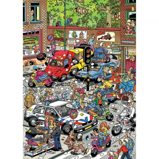 Puzzle 500 pièces : Jan Van Haasteren : Chaos de la circulation - Jumbo-617465