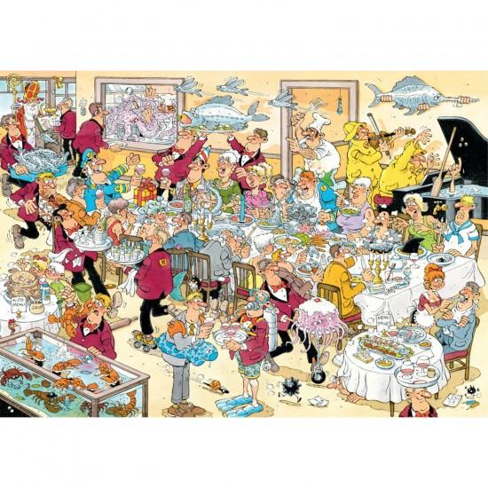 Puzzle 500 pièces : Jan Van Haasteren : Fruits de mer - Jumbo-617458