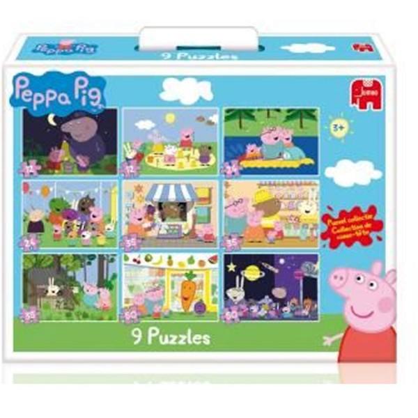 Puzzle de 12 50 pi ces peppa pig jeux et jouets diset avenue des jeux - Fusee peppa pig ...