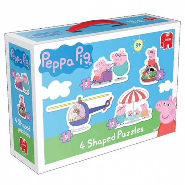 Puzzle de 3 12 pi ces peppa pig jeux et jouets diset avenue des jeux - Fusee peppa pig ...