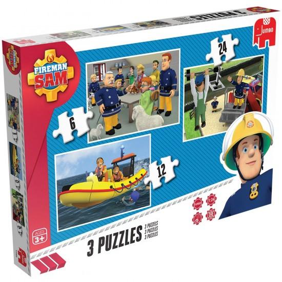 Puzzle de 6 à 24 pièces : Sam le pompier - Diset-617339