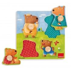 Puzzle encastrement en bois : La famille ours