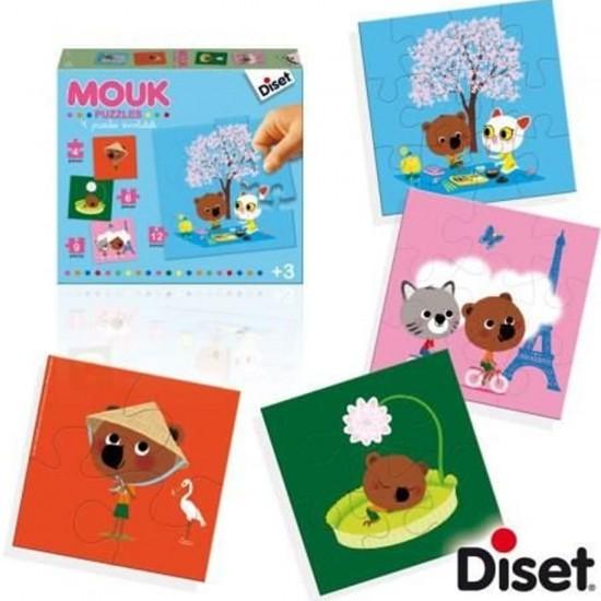 Puzzle évolutif 4 à 12 pièces : Mouk - Diset-41023
