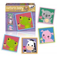 Puzzles 2, 3 et 4 pièces : Naturin Baby Animaux