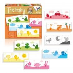 Puzzles 7 x 3 pièces : Trio Baby Couleurs