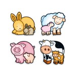 Puzzles de 2 à 5 pièces : Form : Animaux de la ferme