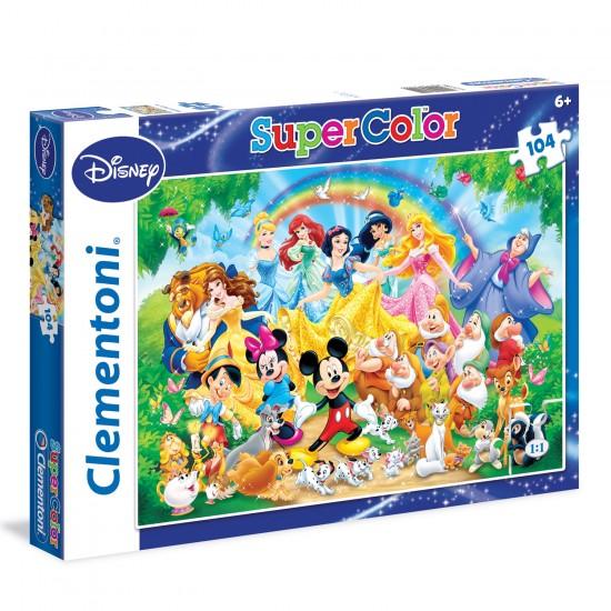Puzzle 104 pièces : Disney Classic - Clementoni-27955