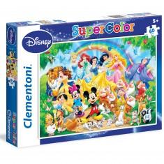 Puzzle 60 pièces : Famille Disney