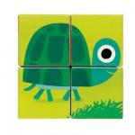 Puzzle 4 cubes : Animaux familiers