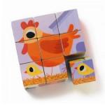 Puzzle 9 cubes : Cot cot et compagnie