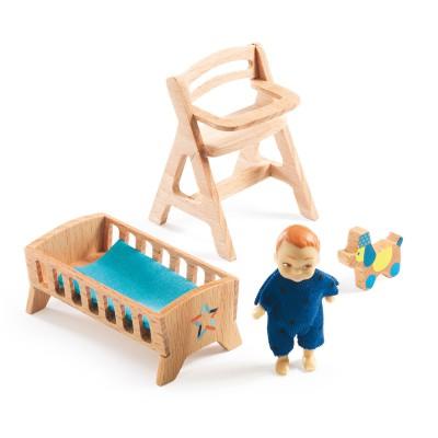 accessoires pour maison de poup es b b lolly jeux et jouets djeco avenue des jeux. Black Bedroom Furniture Sets. Home Design Ideas