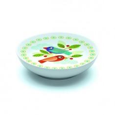 Assiette creuse en porcelaine Pain d'épices : 16.5 cm