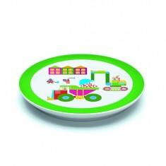 Assiette plate en porcelaine Bricotta : 20.5 cm