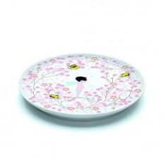 Assiette plate en porcelaine Crème fleurette : 20.5 cm