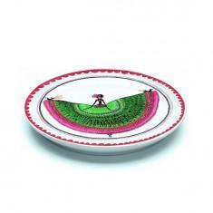 Assiette plate en porcelaine Margarita : 20.5 cm