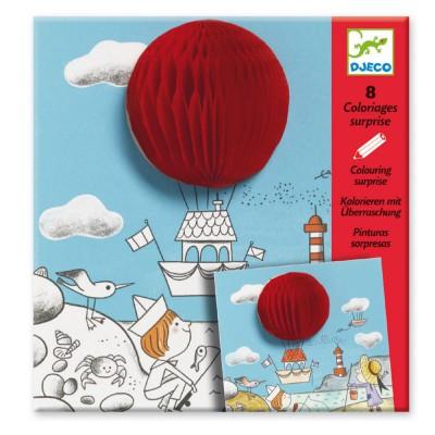 Coloriages surprises x 4 l ger l ger jeux et jouets - Djeco coloriage ...