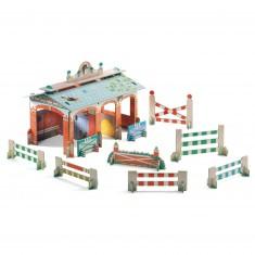 Construction en carton 3D Pop'n Play : Centre équestre