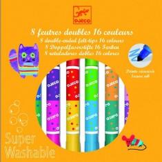 Crayons 8 feutres doubles lavables
