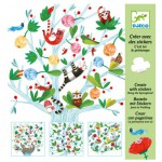 Créer avec des stickers : C'est toi le printemps