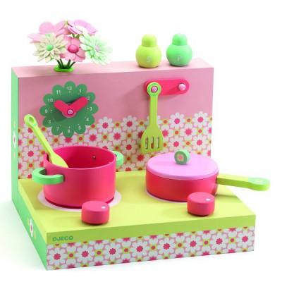 cuisine les bo tes en bois cuisini re pastel jeux et jouets djeco avenue des jeux. Black Bedroom Furniture Sets. Home Design Ideas