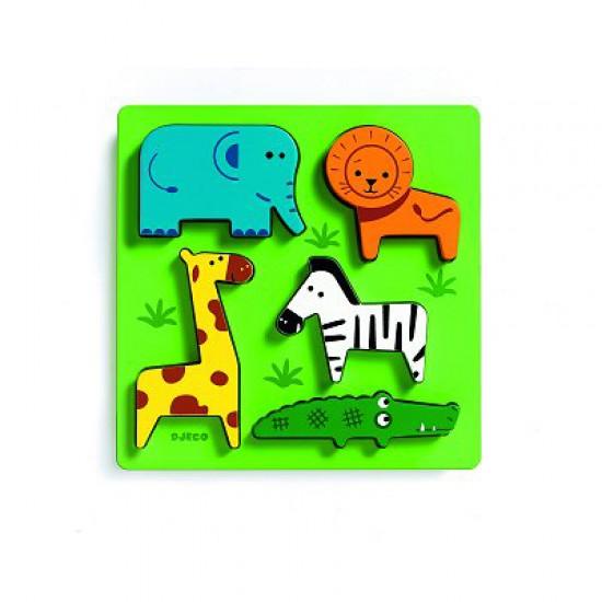 Encastrement 5 pièces en bois - Incrocodile - Djeco-01023