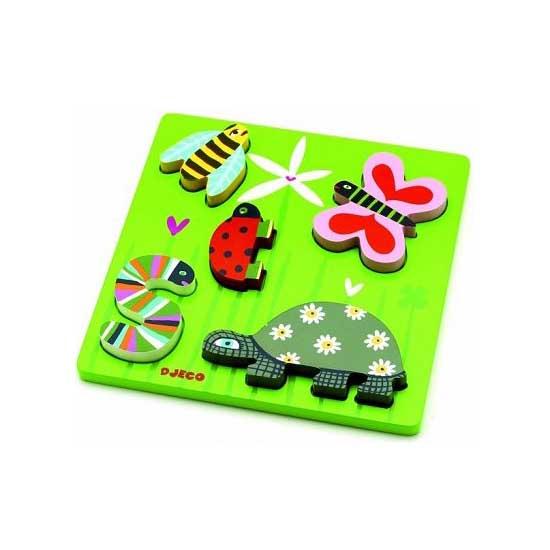 Encastrement 5 pièces en bois - Les petites bêtes - Djeco-01025