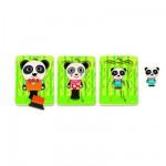 Encastrement 6 pièces en bois : Puzzle 3 niveaux : Panda