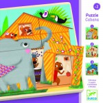 Encastrement 9 pièces en bois : Puzzle 3 niveaux Cabana