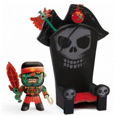 Figurine Arty Toys : Les pirates : Kyle et Ze throne