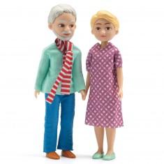 Figurines pour maison de poupées : Grands-parents